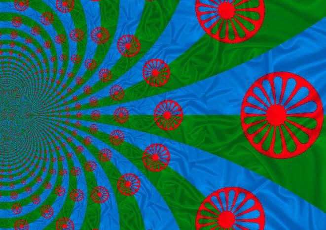 bandeira cigana estilizada